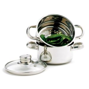 NORPRO 1-Qt Stainless Steel Steamer/Cooker 3-Pc Set