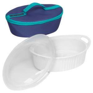 Corningware French White 2.5-Qt Oval Portable Bag Set