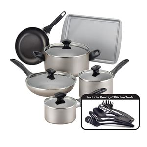 Farberware 15-Pc Dishwasher Safe Non-Stick Set - Champagne