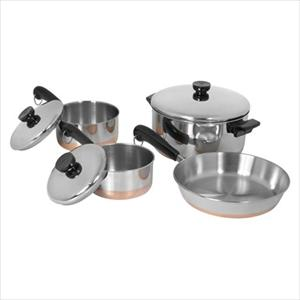 Revere Copper Bottom 7-Pc Cookware Set