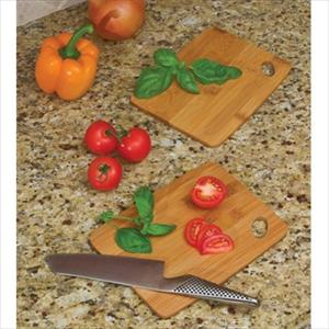 "Lipper Bamboo Set of 2 Thin Cutting Boards 6"" x 8"""