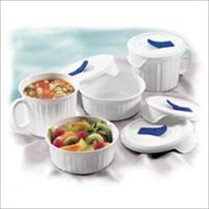Corningware French White 8-Pc Mug/Bowl Set
