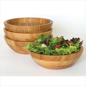 Lipper Bamboo Set of 4 Small Bowls