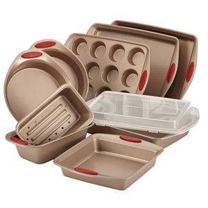 Rachel Ray 10-Pc Cucina Bakeware Set (Red)