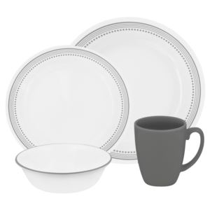 Corelle Livingware 16-Pc Set, Service for 4 (Mystic Gray)