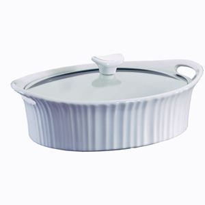 Corningware French White III 2.5-Qt Oval Casserole