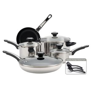 Farberware 12-Pc High Performance Stainless Steel Cookware Set