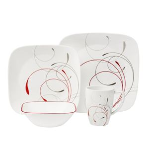 Corelle Square 16-Pc Set, Service for 4 (Splendor)