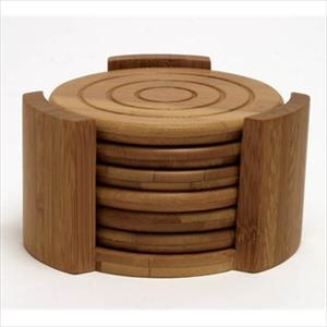 Lipper Bamboo 7pc Coaster Set