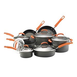 Rachel Ray 14-Pc Hard Anodized Cookware Set