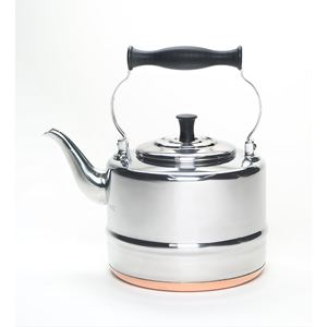 Bon Jour 2 Qt. Polished Stainless Steel Teakettle w/Copper Bottom