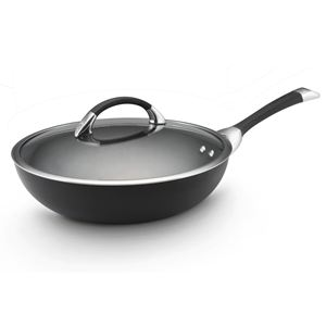 "Circulon Symmetry Hard Anodized 12"" Covered Essential Pan"