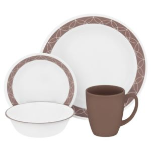 Corelle Livingware 16-Pc Set, Service for 4 (Sand Sketch)