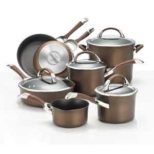 Circulon 11-Pc Symmetry Hard Anodized Cookware Set (Chocolate)