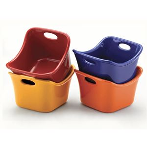 Rachel Ray Set of 4 Square Dipping Cups (Assorted)