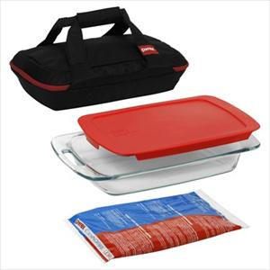 Pyrex Portables 4-Pc Set (Black Carrier)