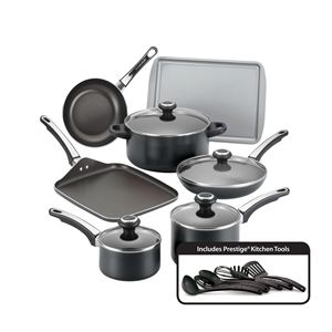 Farberware 17-Pc High Performance Non-Stick Cookware Set - Black