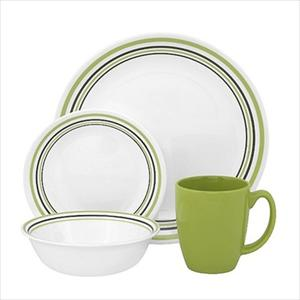 Corelle Livingware 16-Piece Set, Service for 4, Garden Sketch